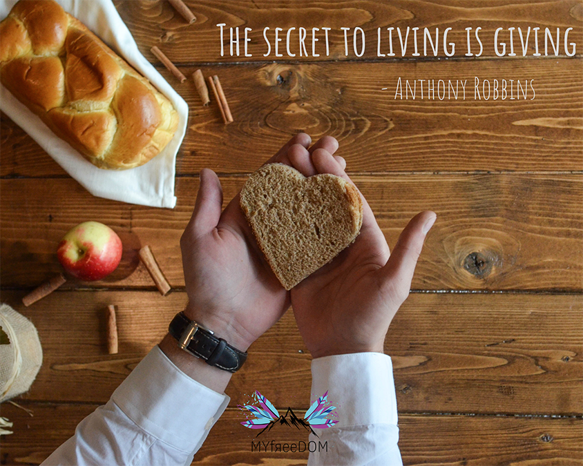 The secret to living is giving – Anthony Robbins